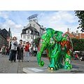 Plastic Elephant Art Copenhagen Nyhamn Denmark 2011 June Colorful Green