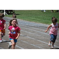 The Wild Child in her first foot  race at the Highland Games.   She was in the lead heading to th...