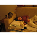 giulia cinzia child cat sleeping