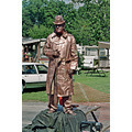 mime copper Statue busker theater troop canada hamilton ontario 2007