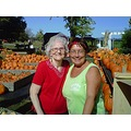 Mom my cousin Joyce at her farm in Ross OH