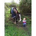 Mrs Hoggitts, the gentle giant and Ralph, my 13 month old grandson - taken by his Mum