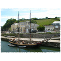 Sail Ship Coast Sea Harbour Square Boat Rigger Cornwall Charlestown MMVI