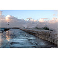 Kalk Bay Pier, when the sea's get rough the waves break right over it. And yes, got soaked doing ...