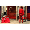 red couple mimes actors city mexicocity mexico art people portrait