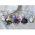 CARD HOLDERS CLAY ANIMALS NURSE FROGS