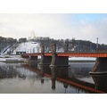 bridge winter kaunas lithuania