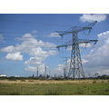 rotterdam europoort electric cable harbour oil refinery clouds holland