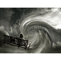 photomontage vortex bench cat travel fantasy sky