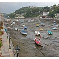 0158 Cornwall Looe UK Harbour Sea Coast Boat Sail Moored