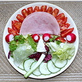 My Lunch Today Salad Lettuce Ham Tomato Cucumber Spring Onion Radish