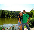 couple portrait woman man lake landscape nature Bulgaria Pleven