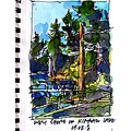 Sketchbook ... There is a small waterfall on the west shore of Kimball Lake. If one follows the w...