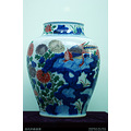 Qing china export porcelain Chinaware exhibition antique pot
