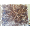 Oil painting Umber underlayer stage