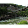 kootnai River Montana swinging bridge