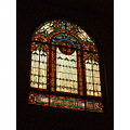 One of our very large stained glass windows in our church