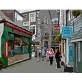 0169 Cornwall Looe UK Shop Street Road Manipulated