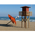 beach sea sand coast blue sky lifeguard Torremolinos Andalucia Spain home