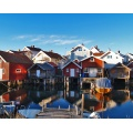 houses boathouses sea sky