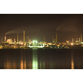 fawley refinery night water reflection lights smoke pollution southampton