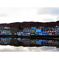 Reflective scottish fishing town