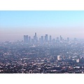 smog los angels california griffith obsevatory