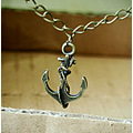 necklace jewelry vintage necklace anchor necklace