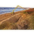 Sand Beach Work Storm Damage Skalderviken Skane Sweden 2012 Januari