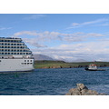 iceland reykjavik harbour ship cruise liner costa atlantica