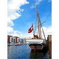 Halmo Kjobenhavn Stern SHIP 1900 Denmark Landskrona 2013 May Red Black