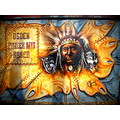 Indian Wolf Wall Painting Rodeo