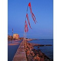 Beach Road Helsingborg 2001 July Evening Lights Skane Sweden