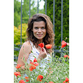 poppies girl woman wife portrait spring red nikon sigma varna bulgaria