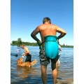 wear your life jacket like a diaper and you can float sitting down
