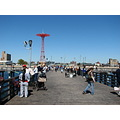 coneyisland brooklynnewyork pier fishing people