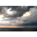clouds dramatic ferry nature storm ship