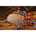 A visit to the hangar to take pictures from our Brasilian build Embraer 190 ..always good for nic...