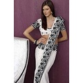 White Pure Georgette Embroidered Wedding Saree _commercial