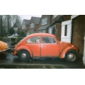 vwbeetle VW bug beetle car orange jalopy