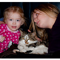 grandchildren child kids family friend cat