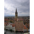 Sibiu Romania view of the evangelic church