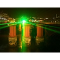 London laser bridge Thames