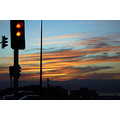 traffic light sunset orange red