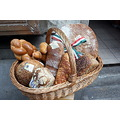 bread white brown basket