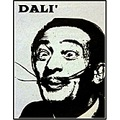 Salvador Dali Black and White Print