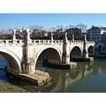 ficospics rome tiber bridge reflection