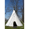 lowerfortgarry fort hudsonbay stonefort manitoba canada landscape teepee