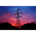 sunset electricity pylon blue red pink