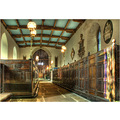 'Family Pews': Family Pews - with 17th Century carved names - in Castleton Parish Church in the D...